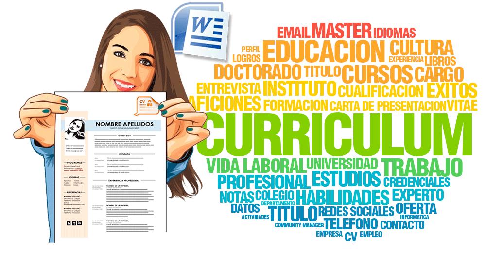 descargar curriculum vitae en word