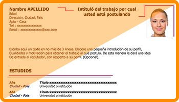 Plantillas Curriculum Vitae Basicas En Formato Word