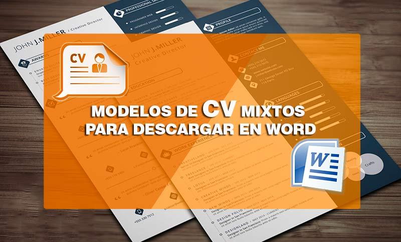 modelos de curriculum vitae-mixtos para descargar en word