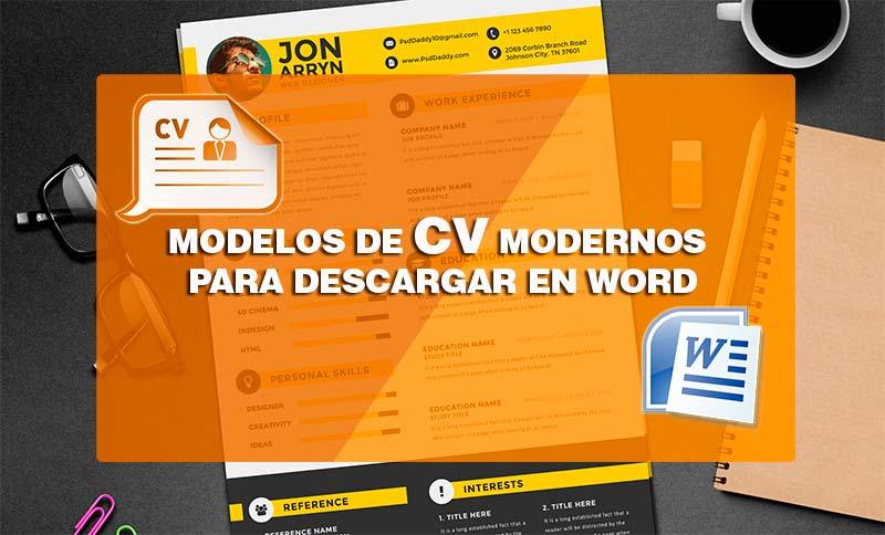 Plantillas Curriculum Vitae Modernas En Formato Word