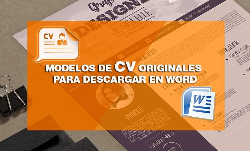 Plantillas Curriculum Vitae Originales En Formato Word