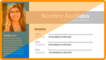 modelo curriculum moderno-profesional destacado