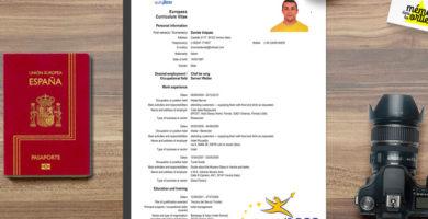 ejemplos curriculum europass word