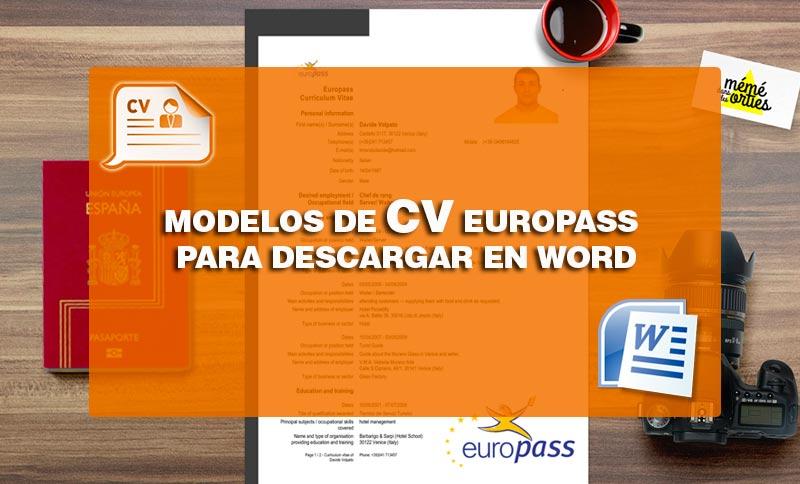 Plantillas Curriculum Vitae Europeo En Formato Word